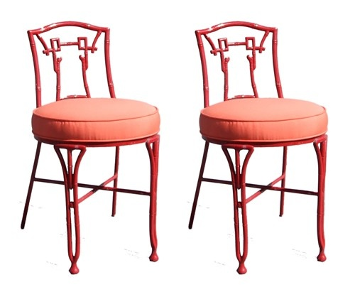 Pair of Asian Style Outdoor Chairs
