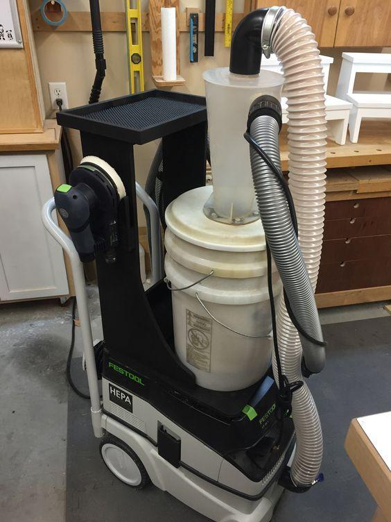 Work center with Dust Deputy