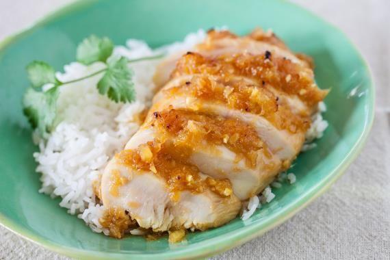 Peito de frango teriyaki