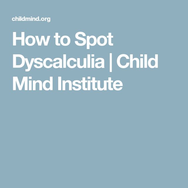 How to Spot Dyscalculia | Child Mind Institute