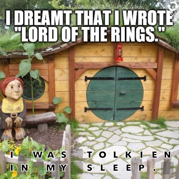 I was Tolkien in my sleep. #pun #LOTR #wordpuzzles