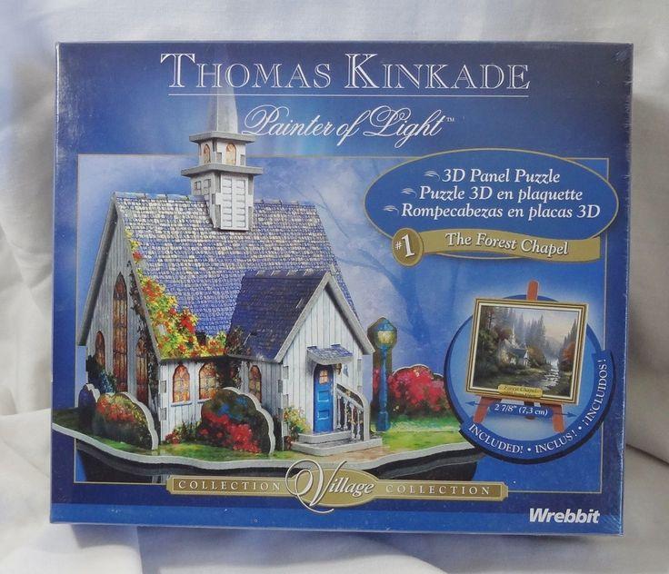 Thomas Kinkade Forest Chapel 3D Jigsaw Puzzle 37 Piece Wrebbit New Sealed