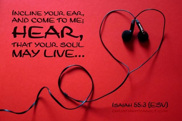 Hearing From God - Isaiah 55:3 - Verse of the Day