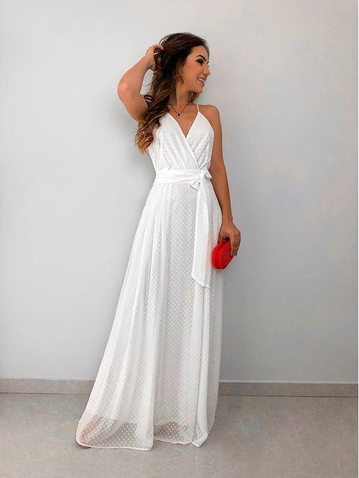 6d9b39c08 Vestido Longo Poa Dani Off | Ropa | Vestidos, Vestido longo, Vestido ...