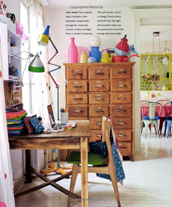 "Creative space - from ""Homespun Style"" by Selina Lake"