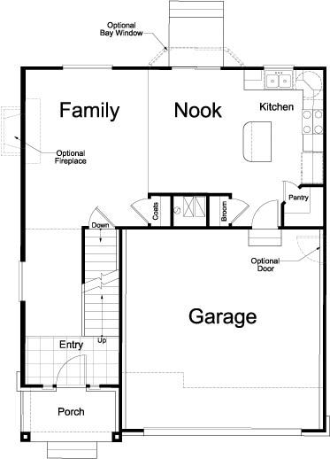 Bridgeport Traditional Ivory Homes Floor Plan Main Level
