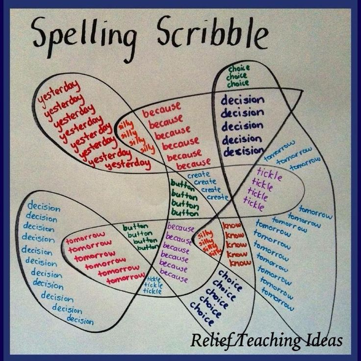 Spelling Scribble - Could also use to practise times table facts.                                                                                                                                                                                 More