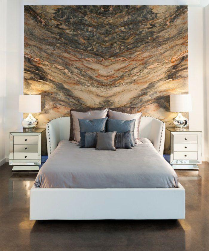 Schlafzimmer Wandgestaltung Wandtapete Wanddesign