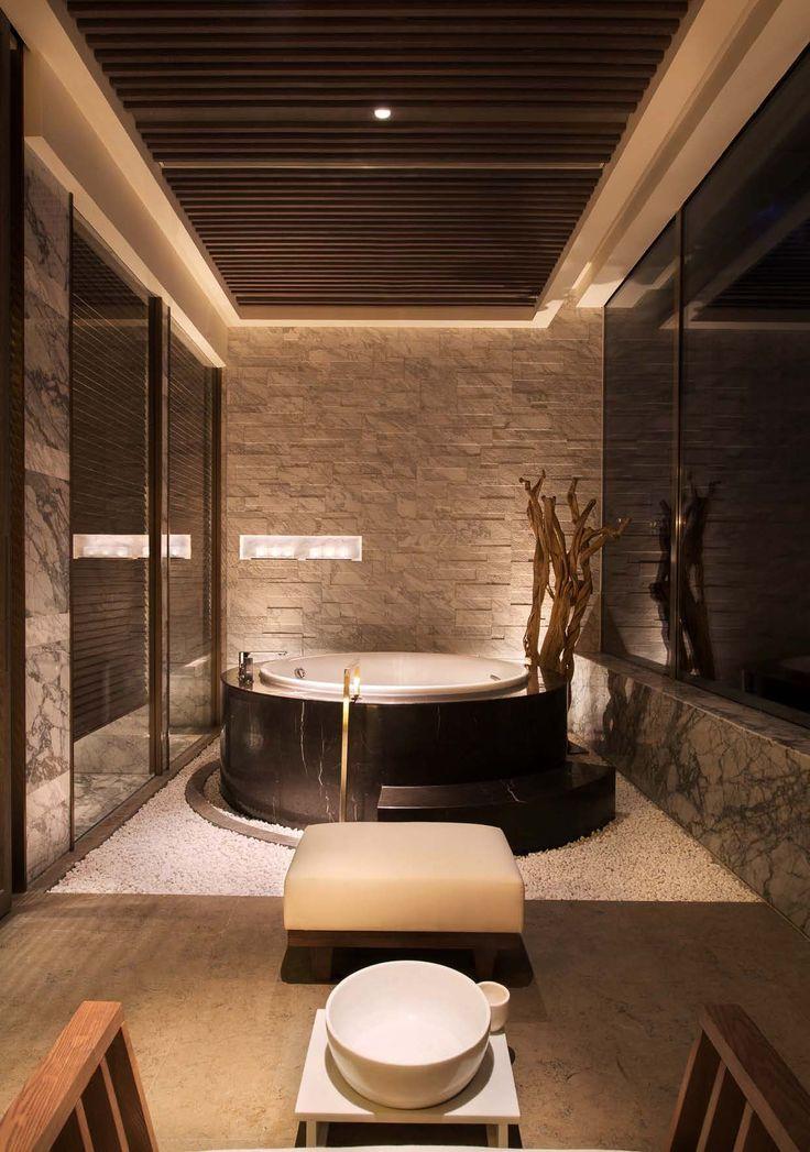 Grand Hyatt Shenyang designed by Hirsch Bedner Associates. Lighting design by Illuminate.