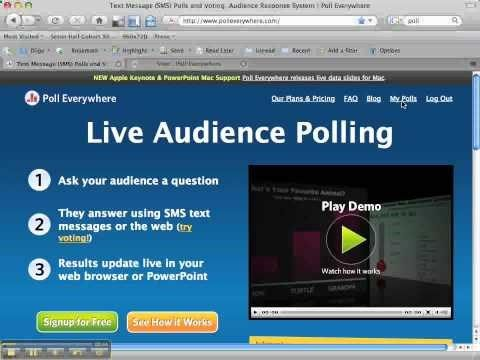 Create a poll where students can answer using their cell phones