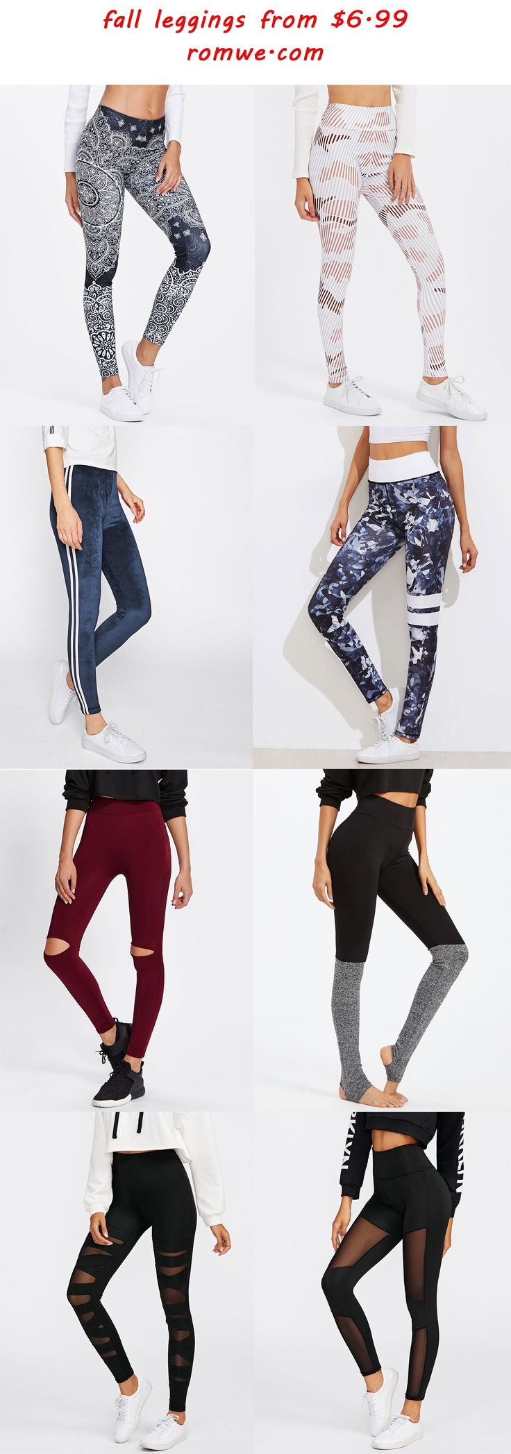 chic fall leggings from romwe.com