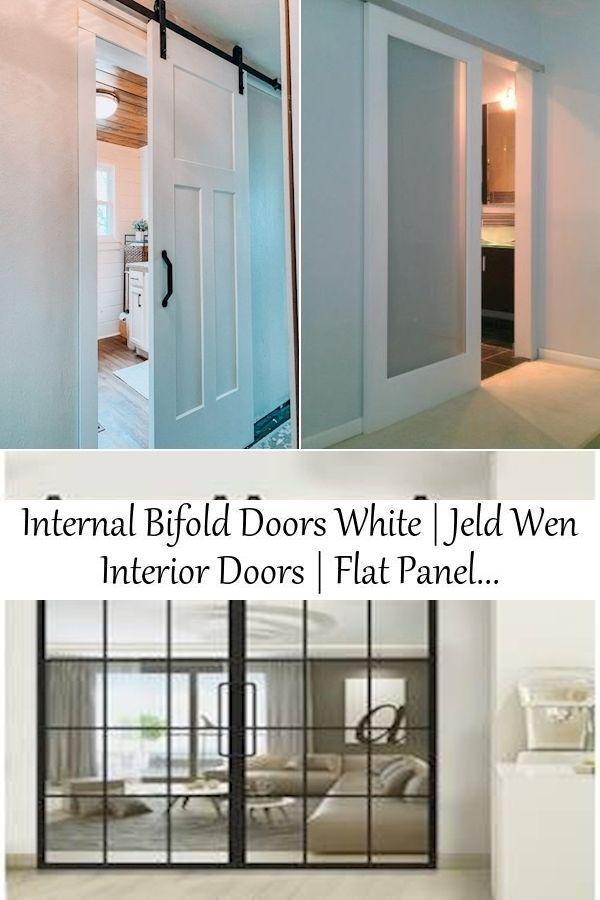 Internal Bifold Doors White Jeld Wen Interior Doors Flat Panel Sliding Closet Doors In 2020 Barn Doors Sliding Jeld Wen Interior Doors Internal Bifold Doors White