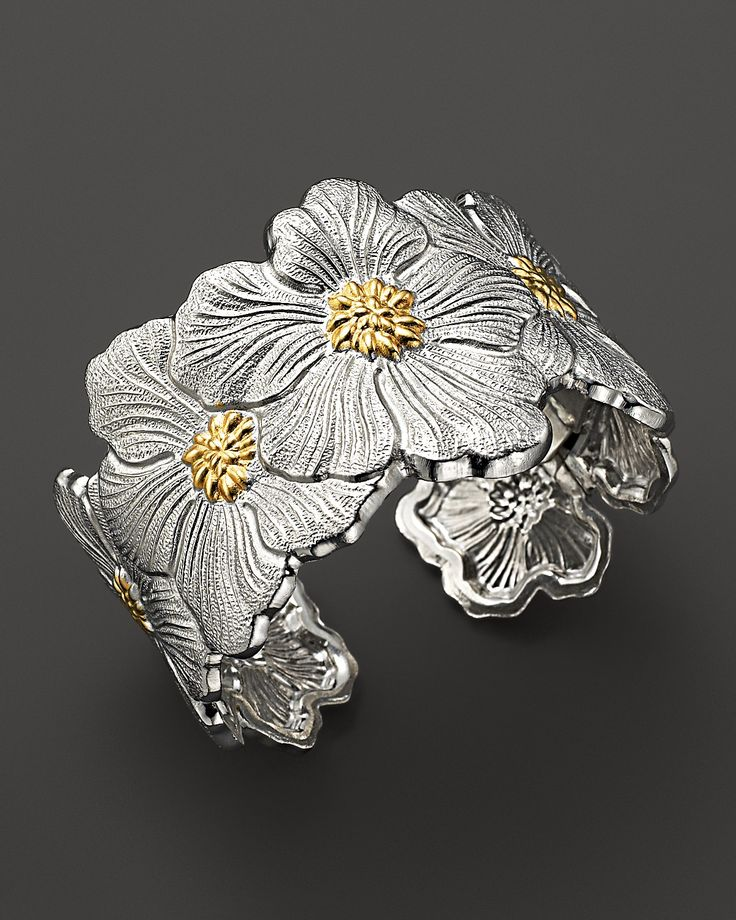 "Buccellati ""Blossom"" Cuff Bracelet with Gold Accents 