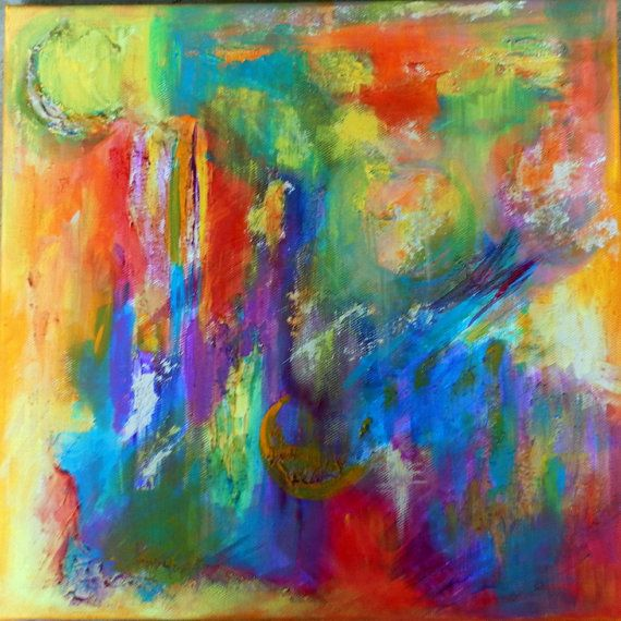 Abstract Original Painting  Vivid Bright  Under the by SqueeManor, $35.00