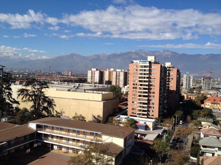 Cordillera de los Andes, desde San Miguel, Stgo, Chile.