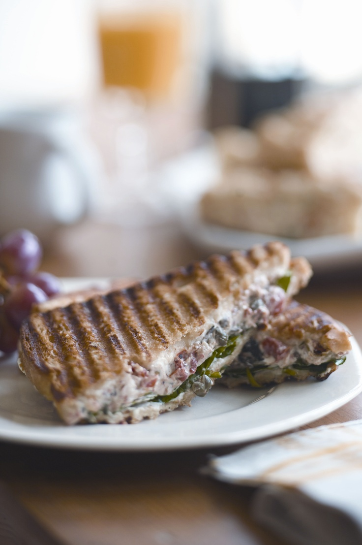 Strawberry, Basil And Goat Cheese Panini Recipe — Dishmaps