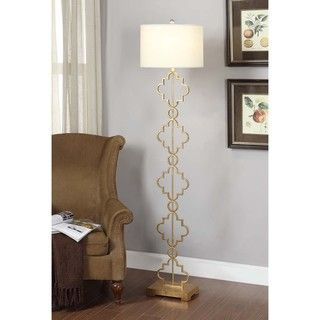 Gold Leaf Moroccan Floor Lamp | Overstock.com Shopping - Great Deals on Floor Lamps
