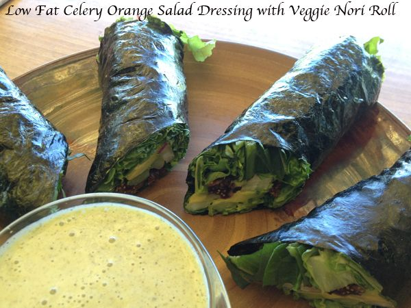 Oil Free Celery Orange Salad Dressing-  simple and delicious low-fat, raw vegan dressing anyone can make!