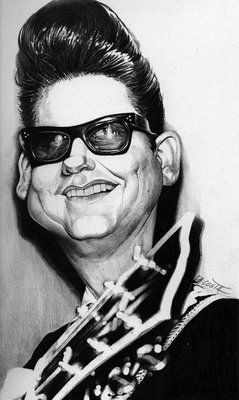 caricature | roy orbison | by charles da costa