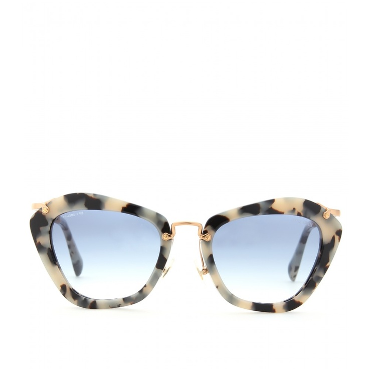miu miu cat eye sonnenbrille mit schildpatt effekt luxury fashion for women. Black Bedroom Furniture Sets. Home Design Ideas