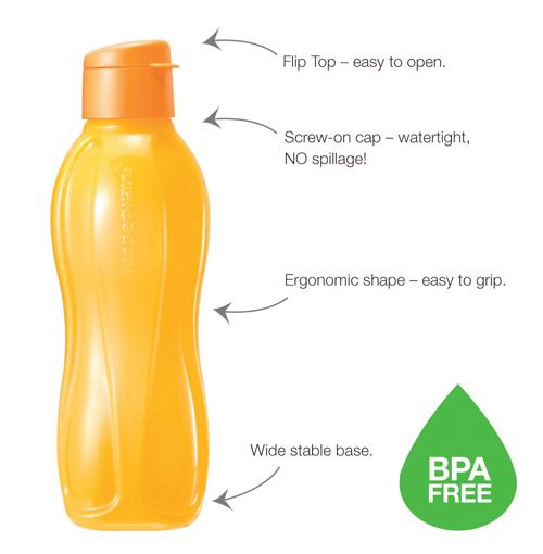 Eco Bottle Flip Top (4) 1.0L. Life time warranty, colour safe.