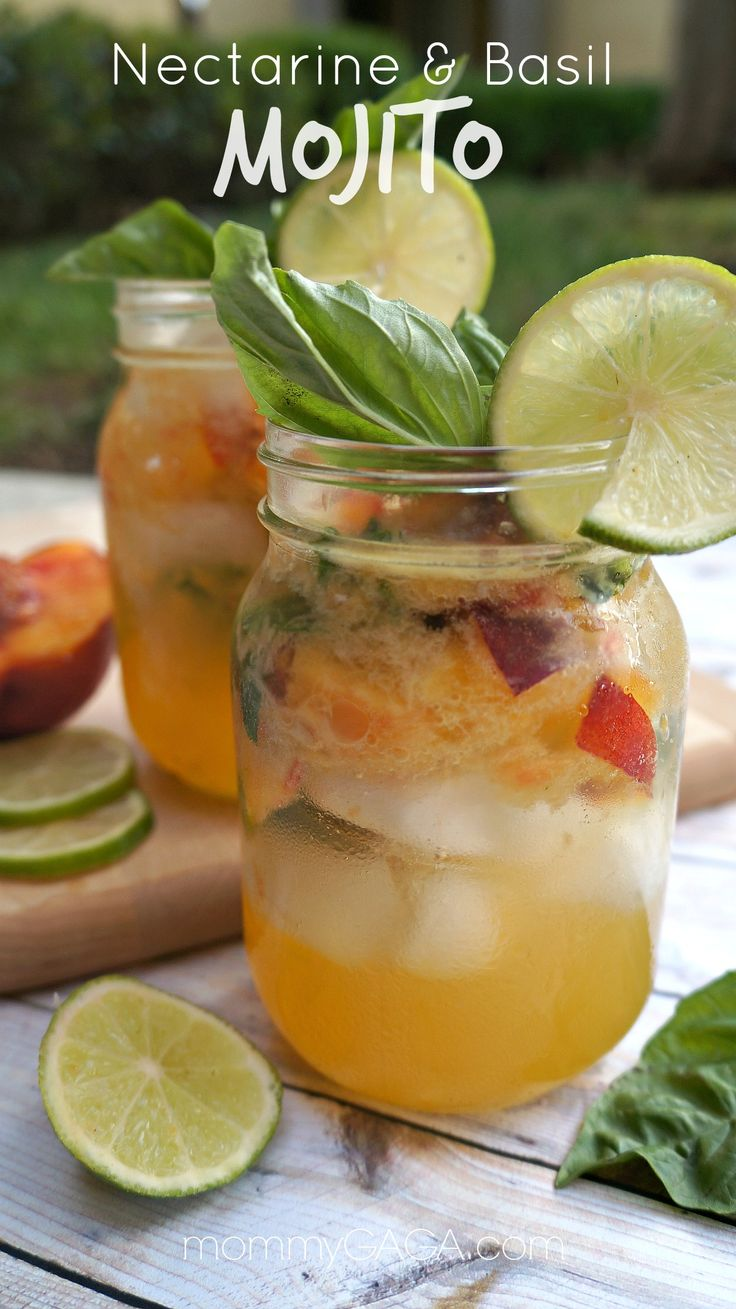 Savoring Summer: Make These Nectarine & Basil Mojitos! Love how these turned out  #ad #SweetNLowStars