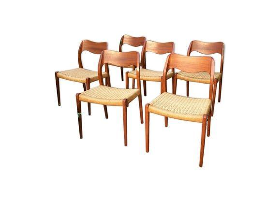 Suite de 6 chaises Niels Otto Moller n°71
