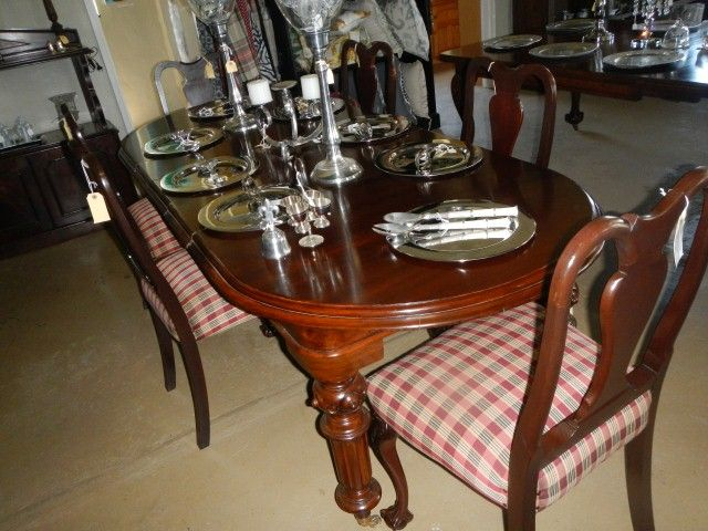 Chippendale style Mahogany dining chairs sold as a set of 6
