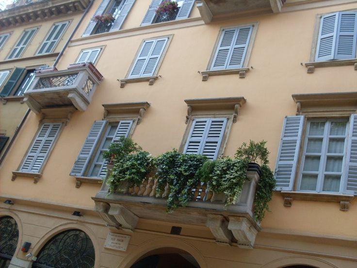 Un balcón en Milán