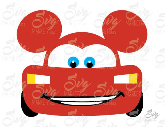 Lightning Mcqueen Ears Cars Disney By Storesvgmarketfiles
