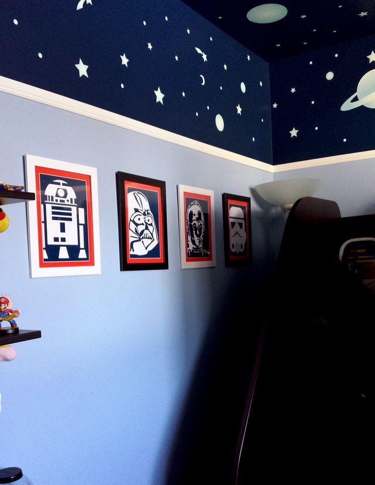 My daughter's bedroom. Space bedroom.