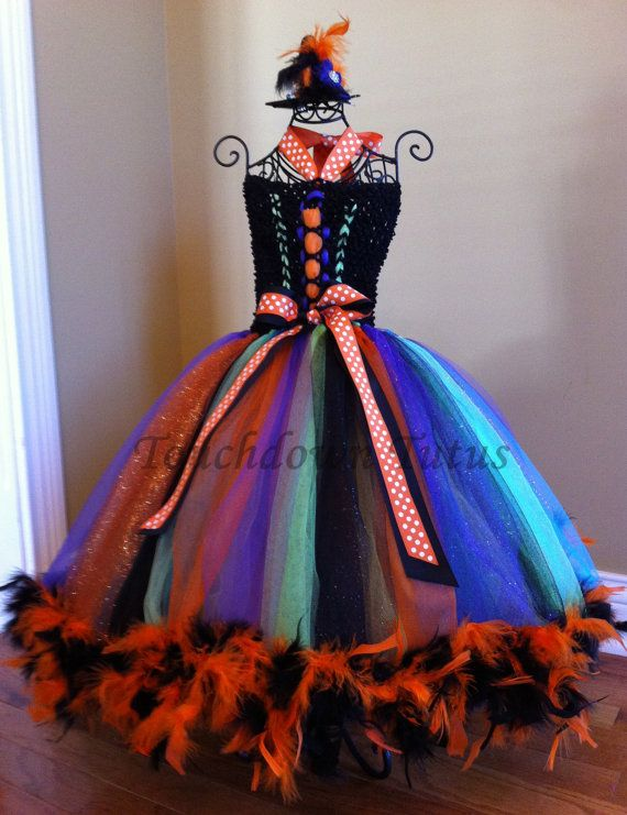 Halloween tutu dress with witch hat by TouchdownTutus on Etsy, $50.00
