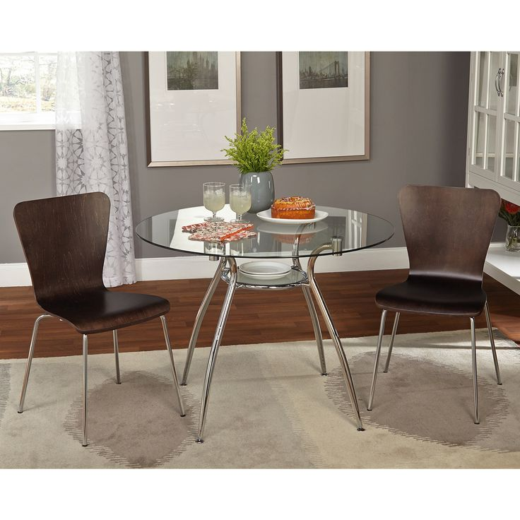 Simple Living 3 Piece Itza Dining Set Pc Blue Chairs Size Sets