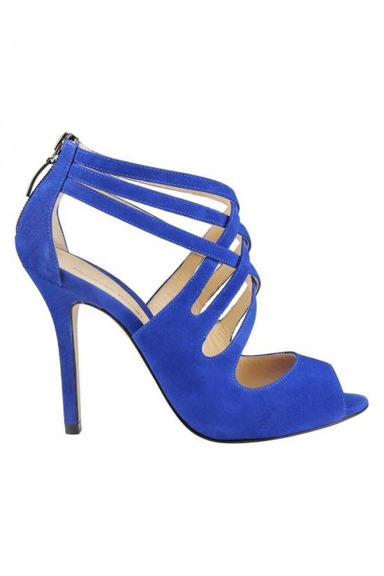 chaussures bleu electrique alexandre birman automne hiver 2012 2013