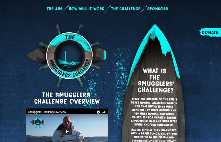 #Website #Design for The Smugglers' Challenge. Great to be involved and support them on this challenge. #Bude #Cornwall #Graphics #Branding