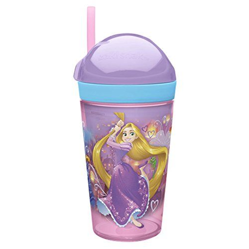 Zak Designs PRYC-S110 Rapunzel and Jasmine Disney Princess Snack Cup, 10 oz, Clear ** Want additional info? Click on the image.