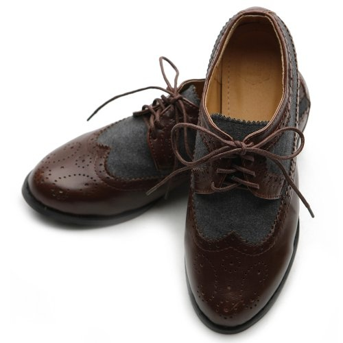 Ollio Womens Lace Ups Oxfords Wingtip Dress Low Heels Multi Colored Shoes