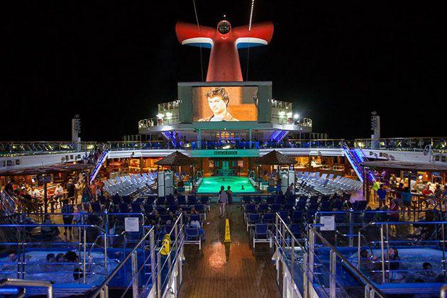Outdoor Movie Screen On Carnival Sunshine Cruise Critic