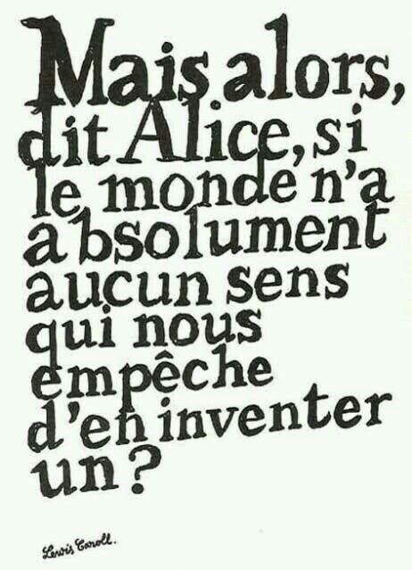 Citation: Alice au pays des merveilles...