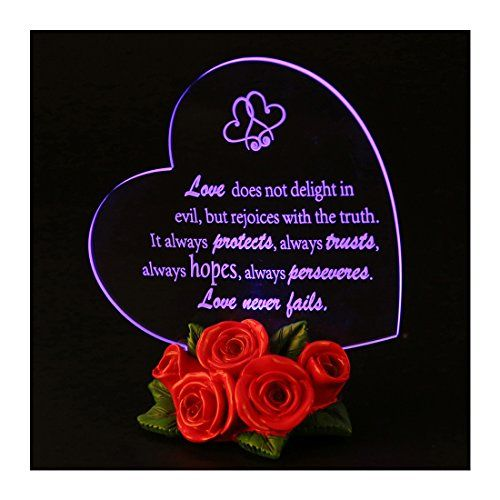Giftgarden LED Wedding Decor Cake Toppers Heart Shaped with Rose for Wedding Anniversary Gifts Fianailles Gift Friends Gifts -- For more information, visit image link.-It is an affiliate link to Amazon. #ChristmasGift
