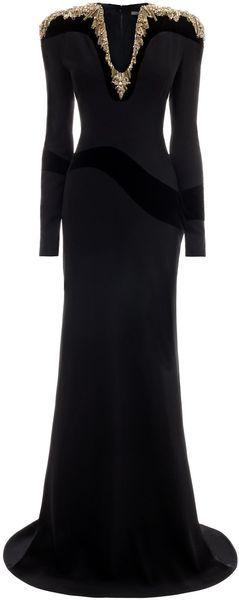 Alexander Mcqueen Glory Embellished Floor Length Gown - Lyst