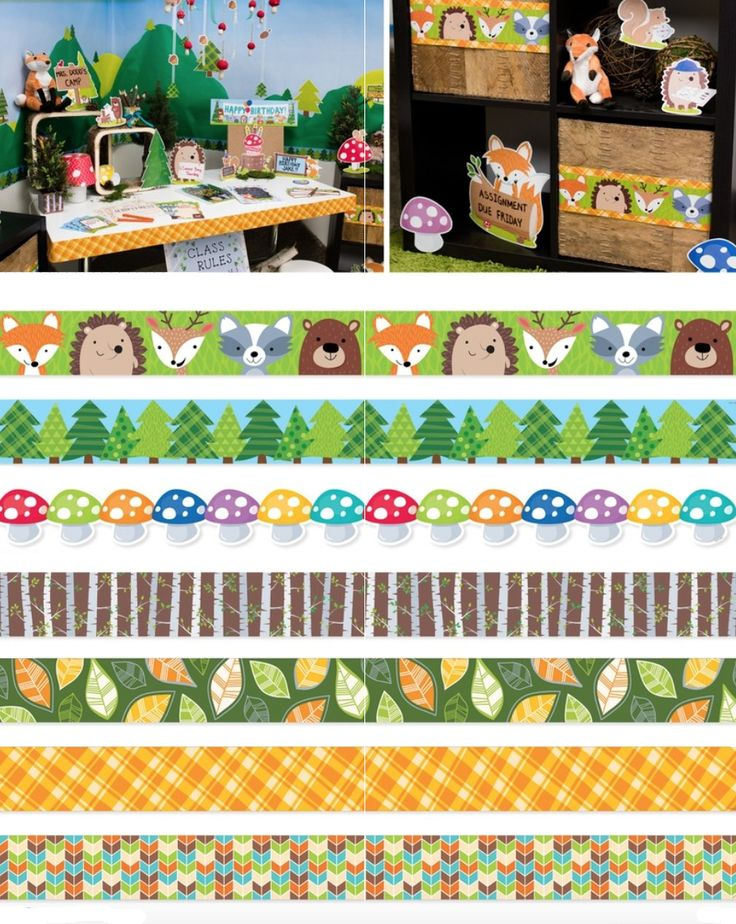 Woodland Classroom Decor ~ These cute woodland friends borders will add charm to