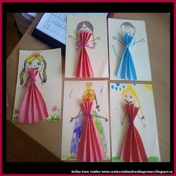 Idée Pinterest : une princesse en papier plié