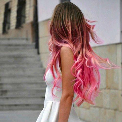 Pink ombré.