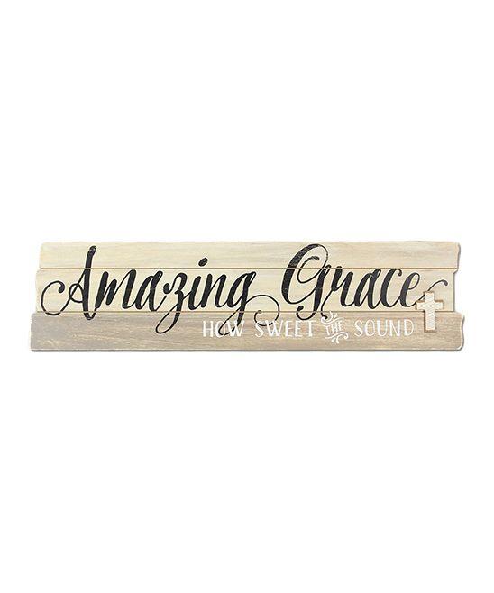 U0027Amazing Graceu0027 Wood Wall Sign. U0027