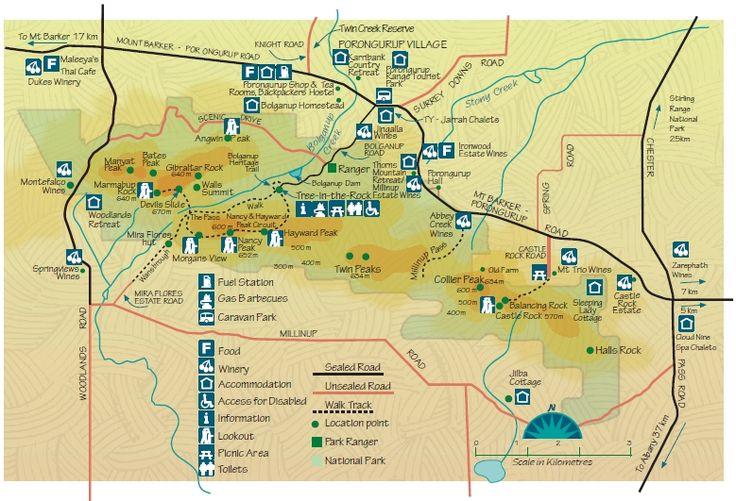 Porongorup Tourist Map