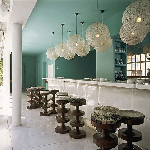 Kokopelli Teal Paint, Benjamin Moore at the Condesa DF hotel in Mexico City