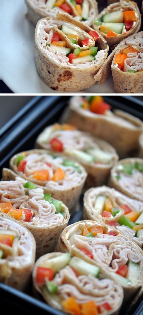Colorful Roll Ups | Click Pic for 18 Healthy School Lunch Ideas for Kids | No Heat Lunches to Take to Work
