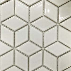 White Diamond Mosaics - Products - Surface Gallery #whitediamondmosaics #white #diamond