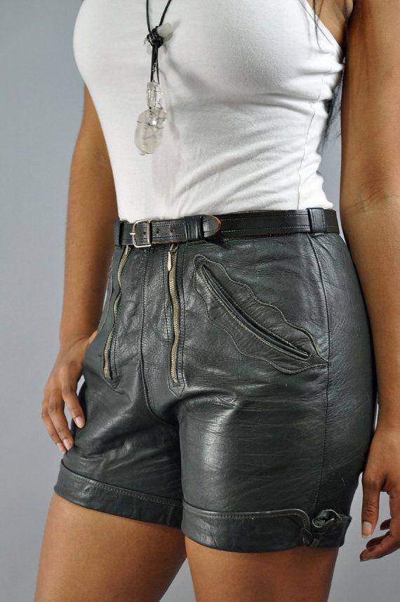 Vintage Lederhose Leder Shorts / Schweizer Hot Pants Lederhose